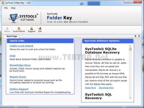 رمزگذاری روی فولدرها، SysTools Folder Key 2.0