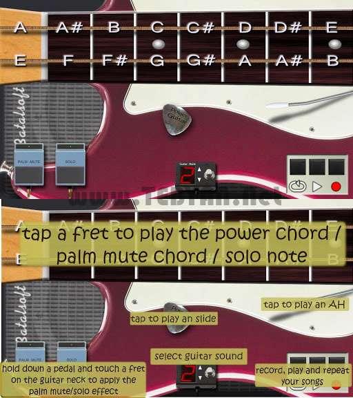 گیتار الکترونیک نسخه اندروید، Power Guitar HD Pro v1.4