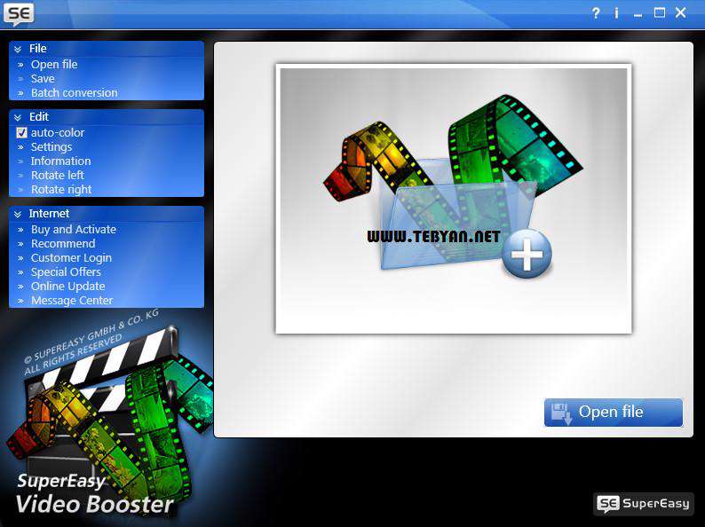 افزایش کیفیت فایل های ویدیویی، SuperEasy Video Booster 1.1.2152