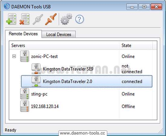 مدیریت دستگاه های یو اس بی، DAEMON Tools USB 1.1.0.0040