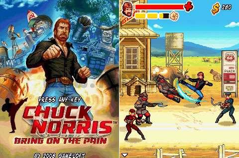 بازی زیبای چاک نوریس نسخه جاوا، Chuck Norris: Bring on the Pain