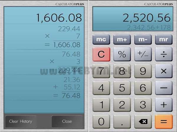 ماشین حساب نسخه اندروید، Calculator Plus Free 3.4