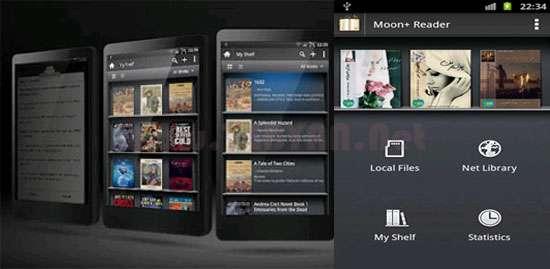 نرم افزار کتابخانه و کتاب خوان نسخه اندروید، Moon+ Reader Pro v1.8.7