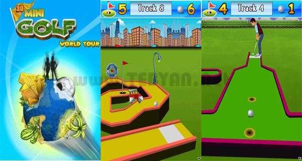 بازی زیبای مینی گلف نسخه جاوا، 3D Mini Golf World Tour