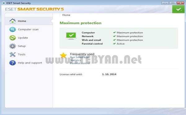 بسته امنیتی نود 32، ESET Smart Security 5.2.15.1