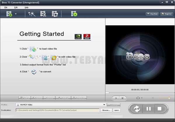 تبدیل کننده فایل TS تصویری، Bros TS Converter 3.1.1.108