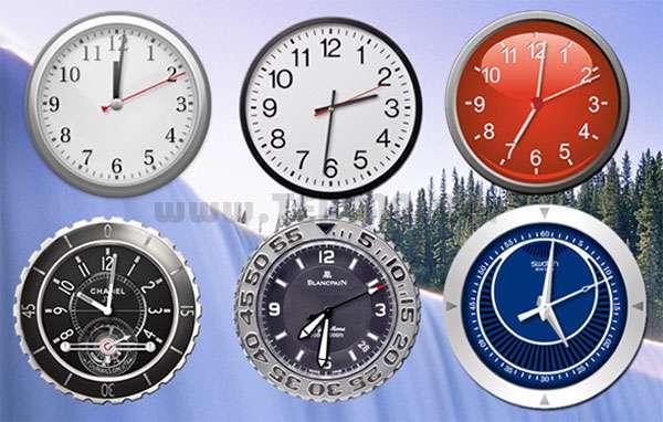 نمایش ساعت های عقربه ای دسکتاپ، PerfectClock 4.5.2.32