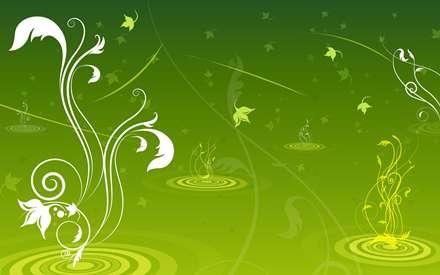 رویش گل در پس زمینه سبز