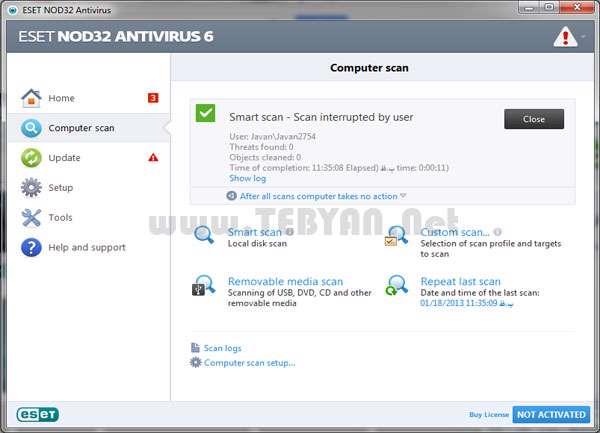 آنتی ویروس نود 32 نسخه 6، ESET NOD32 Antivirus 6.0.306.0 Final