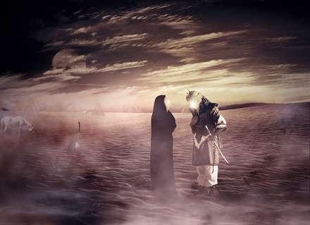 پوستر وداع حضرت زينب (س) با سيدالشهداء (ع)