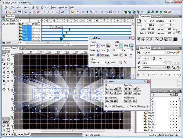 ساخت فایل های فلش به همراه نسخه قابل حمل، SWiSH Max 4.0 Build 2011.06.20