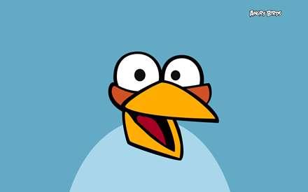 تصوير يك آبي زرد در بازي پرندگان عصباني (angry birds)