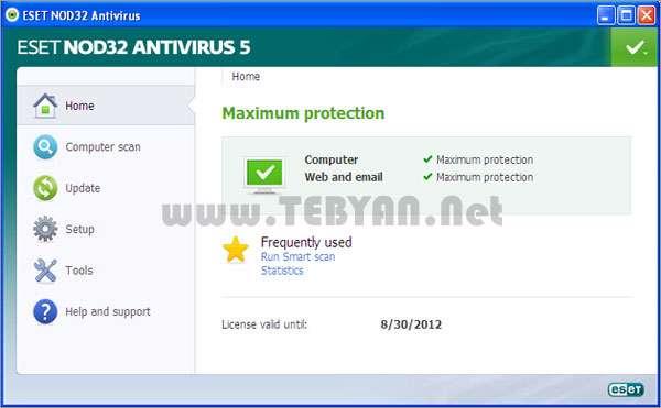 آنتی ویروس نود 32 + آپدیت، ESET NOD32 Antivirus 5.2.15.1