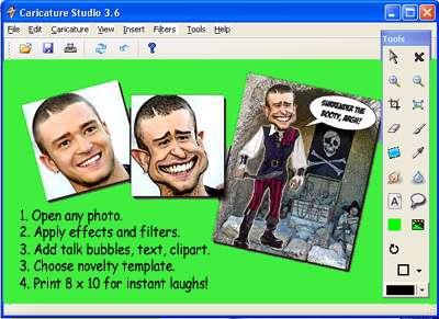 ساخت کاریکاتور از تصاویر دلخواه، Caricature Studio 6.6.12.526