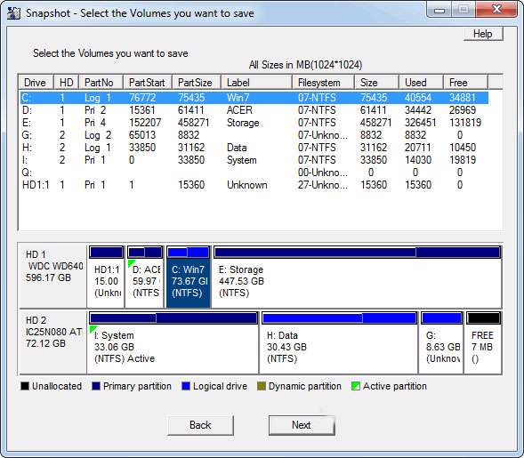 تهیه نسخه پشتیبان از درایوها به همراه نسخه قابل حمل، Drive SnapShot 1.42.16494
