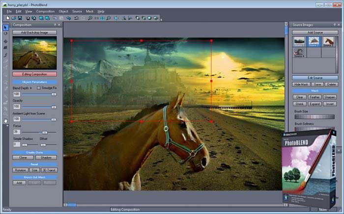 مونتاژ حرفه ای تصاویر سه بعدی به همراه آموزش، Mediachance Photo Blend 3D 2.0.2