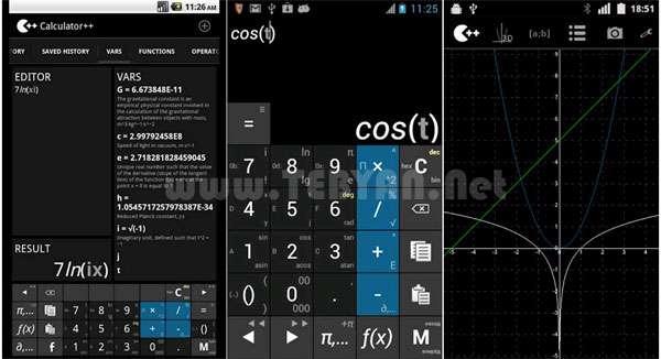 ماشین حساب مهندسی نسخه اندروید Calculator++ v1.6.2