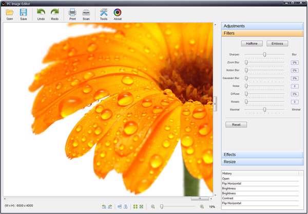 ویرایش سریع و حرفه ای تصاویر، PC Image Editor 5.0