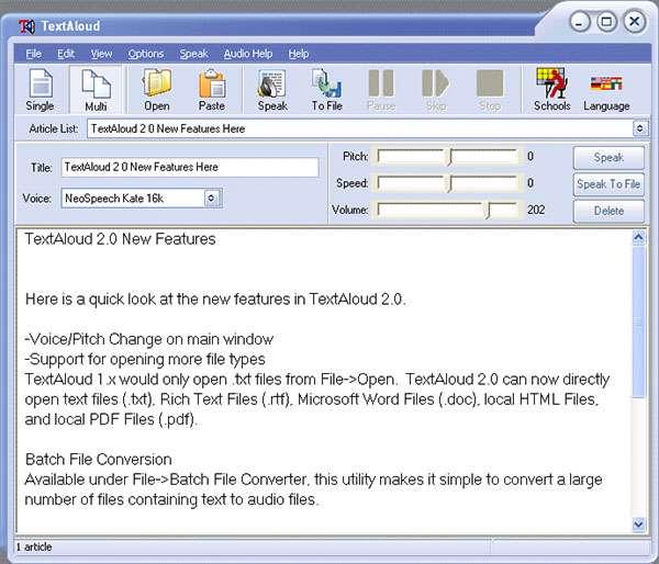 تبدیل متون به گفتار، NextUp TextAloud 3.0.53