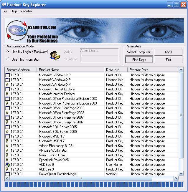 نمایش سریال نرم افزار + پرتابل، Product Key Explorer 3.2.8.0