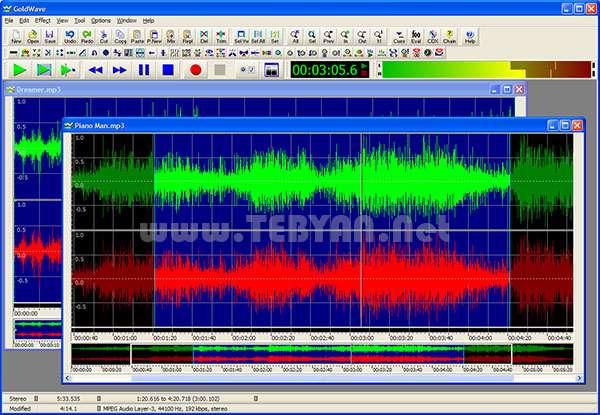 ویرایش حرفه ای موزیک + پرتابل، GoldWave 5.68