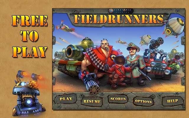 بازی مهیج دونده میدان نسخه کامپیوتر، Fieldrunners For PC