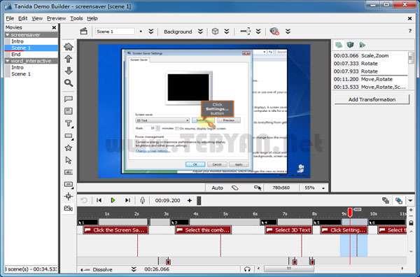 ساخت فیلم های آموزشی، Tanida Demo Builder 9.0.1.3