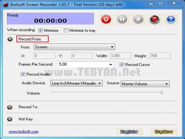 فیلمبرداری از محیط دسکتاپ، Boilsoft Screen Recorder 1.05.13 Retail