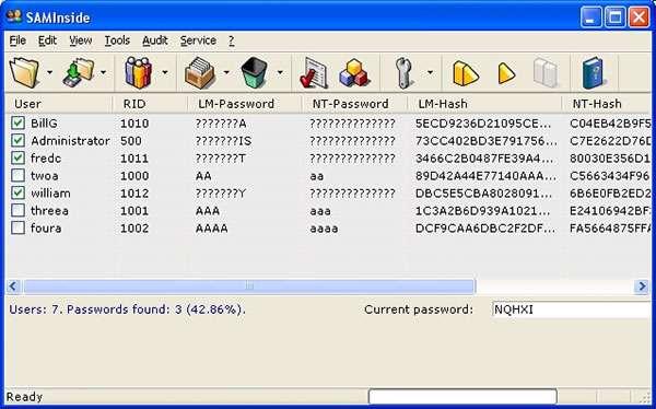 رمز گذاری و رمز گشایی اطلاعات، SAMInside 2.7.0.1