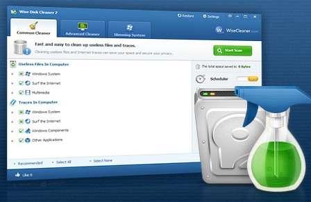 پاکسازی فایل های اضافی + پرتابل، Wise Disk Cleaner 7.81