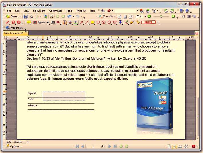 نمایش و ویرایش فایل های PDF به همراه نسخه قابل حمل، PDF-XChange Viewer 2.5 Build 209