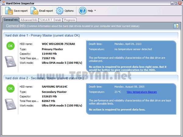 مدیریت هارد دیسک + پرتابل، Hard Drive Inspector Pro 4.11 Build 151