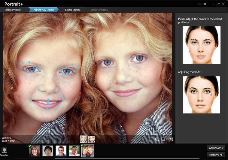رتوش و زیباسازی تصاویر چهره، ArcSoft Portrait Plus 2.0.0.221