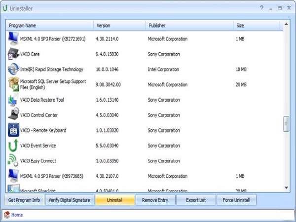 حذف نرم افزارهای رایانه، Puran Uninstaller 2.0