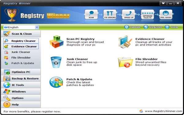 بهینه سازی رجیستری به همراه نسخه قابل حمل، Registry Winner 6.6.2.3