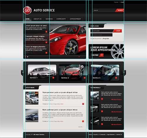 آموزش طراحی وبسایت با فتوشاپ، How to Design Website on Photoshop