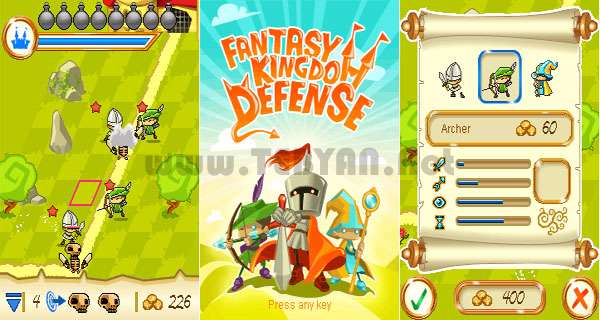 بازی دفاع پادشاه فانتزی نسخه جاوا، Fantasy Kingdom Defense