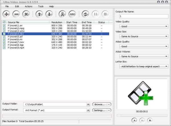 چسباندن فایل های ویدیویی، Aone Ultra Video Joiner 6.4.0311