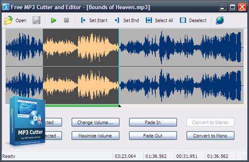 برش و ویرایش فایل های صوتی، Free MP3 Cutter and Editor 2.6.0.1680