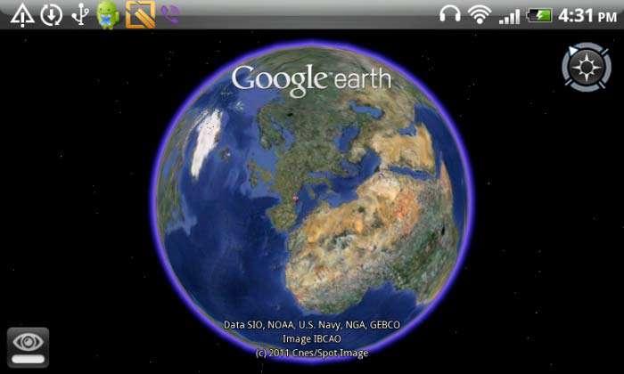 جستجوی کلیه نقاط کره زمین نسخه اندروید، Google Earth v7.0.3.8527