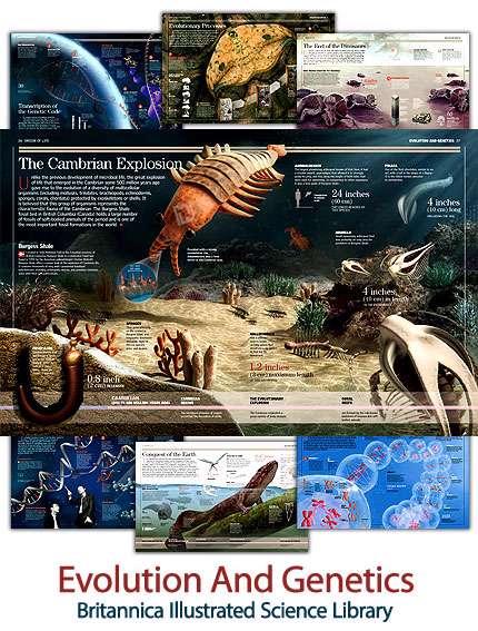 کتاب مصور بریتانیکا با موضوع تکامل و ژنتیک