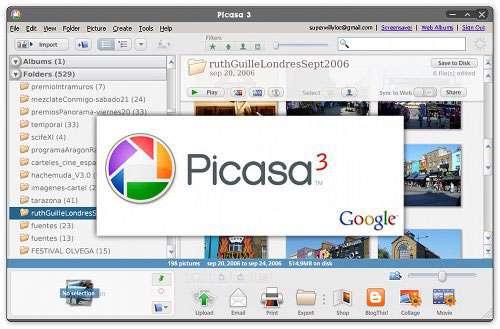 مدیریت تصاویر رایانه، Picasa 3.9 Build 136.18