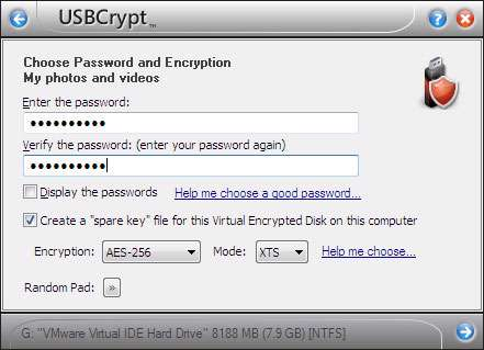 محافظت از حافظه های قابل حمل، USBCrypt 10.9