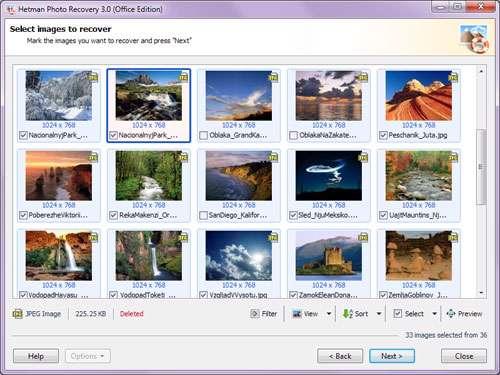 بازیابی تصاویر حذف شده از سیستم، Hetman Photo Recovery 3.2