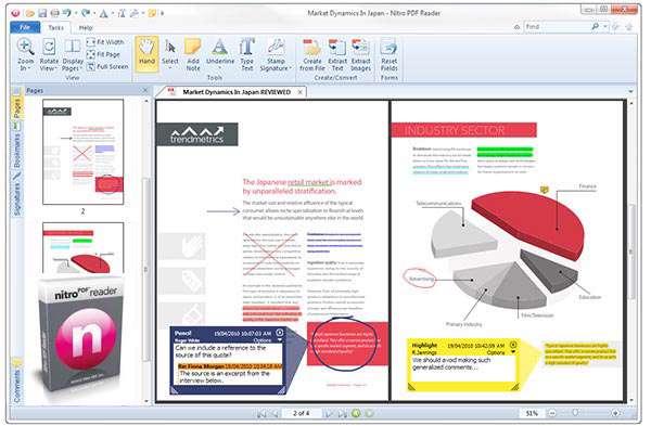 مشاهده فایلهای PDF و ویرایش آنها، Nitro PDF Reader 5.5.6.21