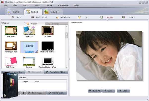 ساخت قدرتمند اسلایدشو فلش، Ultraslideshow Flash Creator Pro 1.58