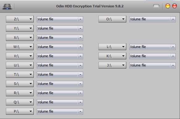 قفل گذاری روی درایوها، Odin HDD Encryption 9.8.2