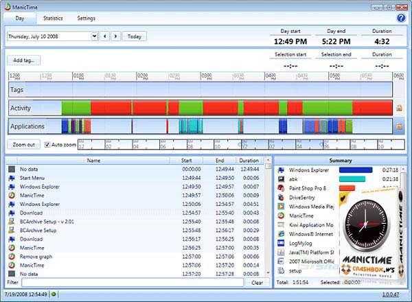 مدیریت زمان در استفاده از کامپیوتر و ثبت وقایع، ManicTime Pro 2.3.8