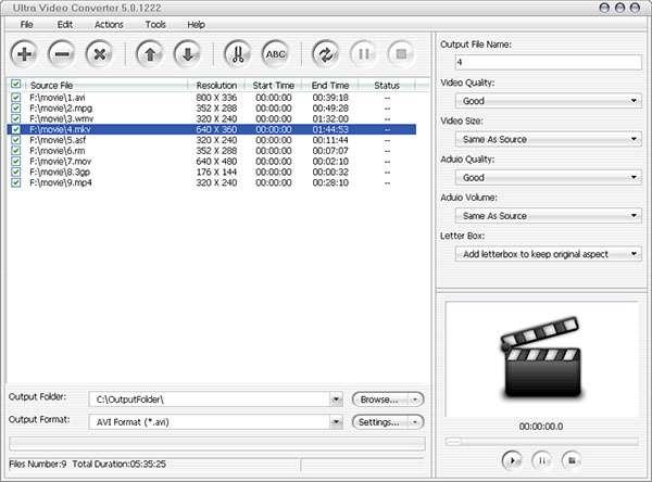 تبدیل کننده فایل های ویدیویی، Aone Ultra Video Converter 5.4.0311