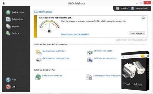 حذف کامل فایل ها از روی هارددیسک، O&O SafeErase Pro 6.0 Build 267